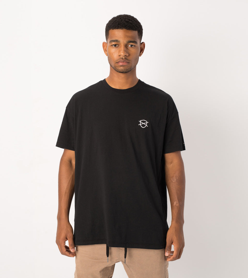 Shield Rugger Tee Black