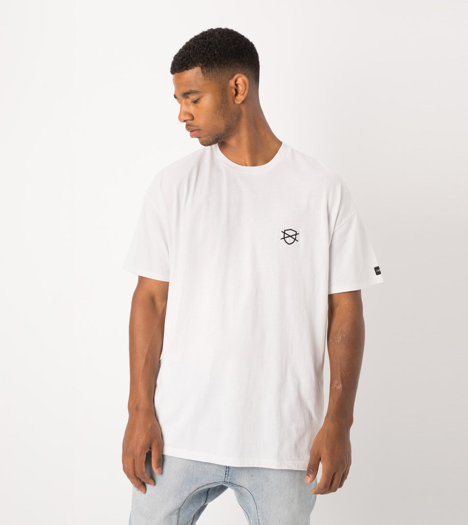 Shield Rugger Tee White