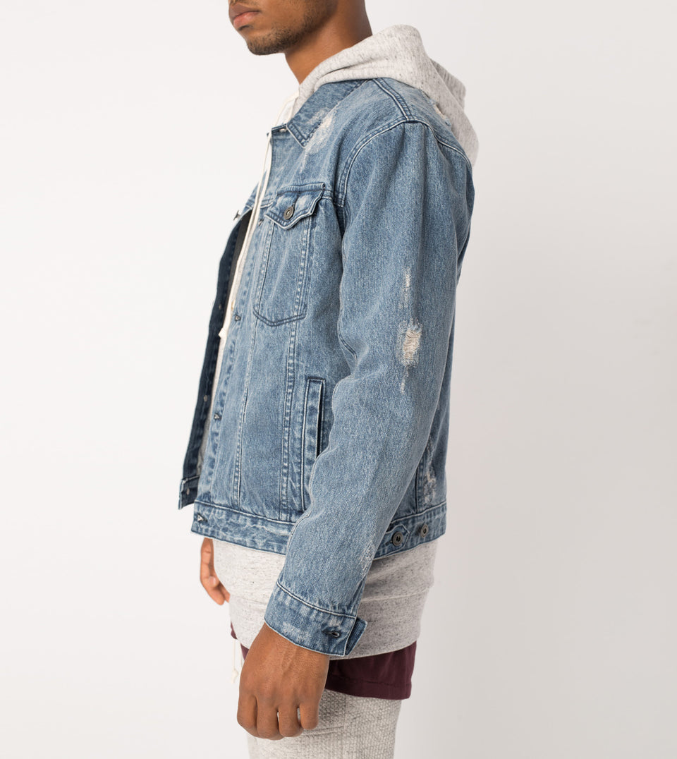Shred Snitch Denim Jacket Blow-Out Blue