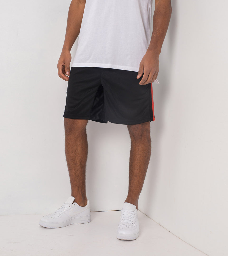 Sideline Track Short Black/Vintage Red