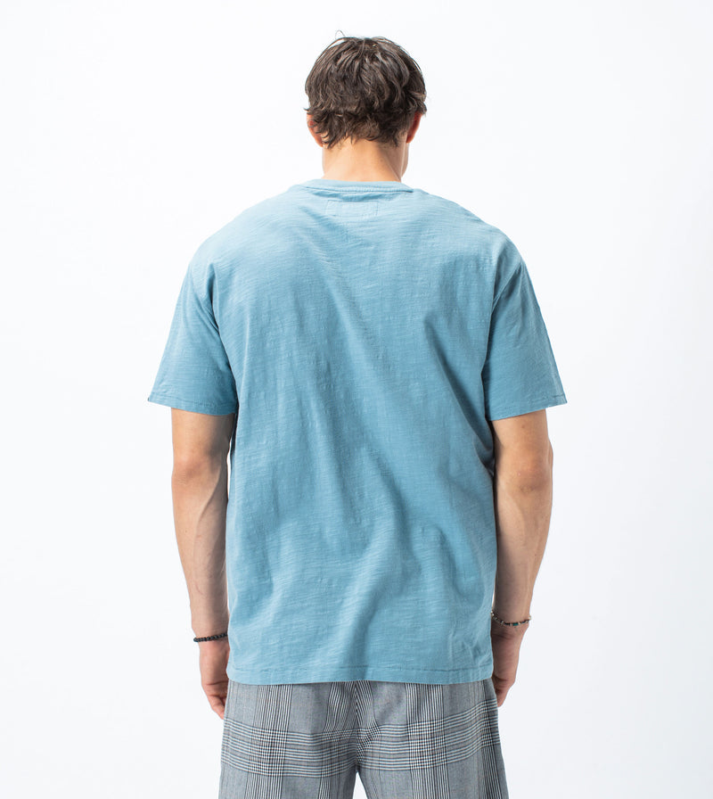 Slub Box Pocket Tee Ocean