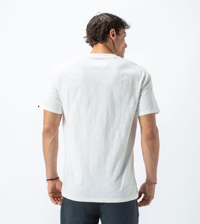 Slub Box Pocket Tee Milk