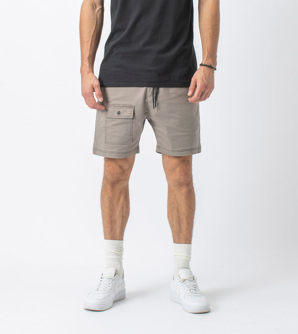 Snapshot Cargo Short Washed Almond - Sale