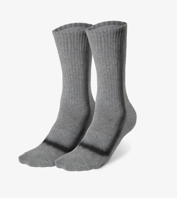 TD Stripe High Sock Dk Grey Marle
