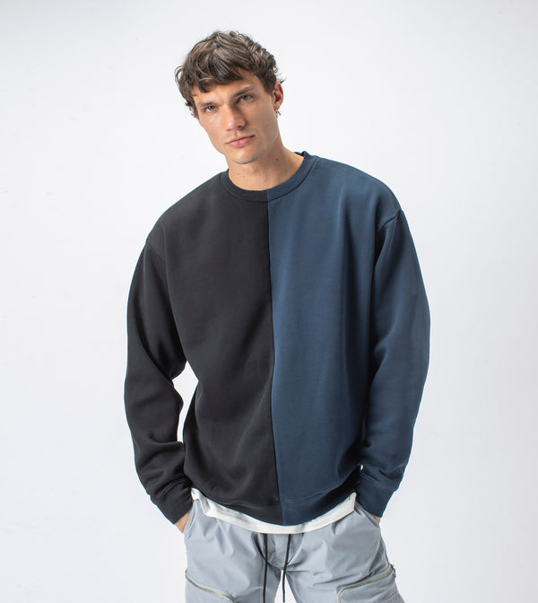 Splice Crew Sweat Smokey Black/Ink - Sale