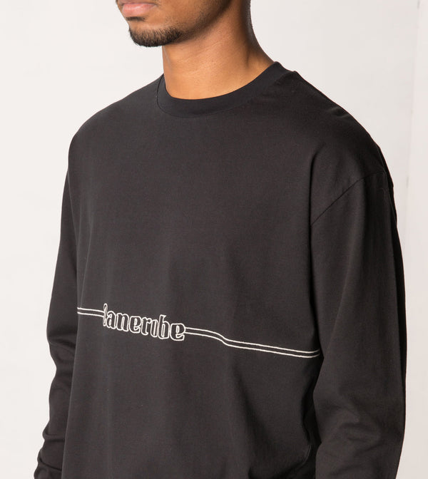 Sponsor Box LS Tee Black