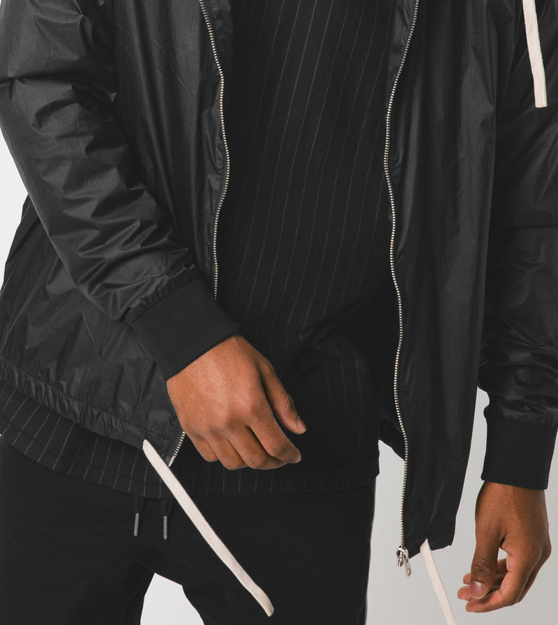 Storm Spray Jacket Scratched Black - Sale