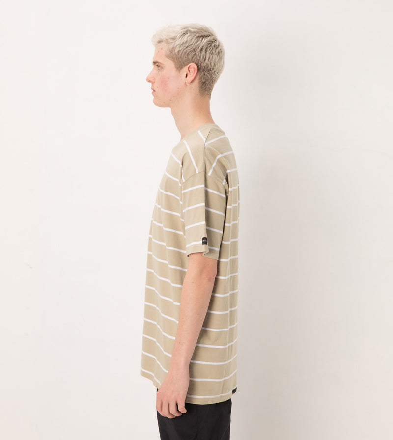 Stripe Box Tee Moss/White - Sale