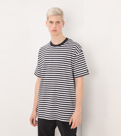 Stripe Box Tee White/Navy