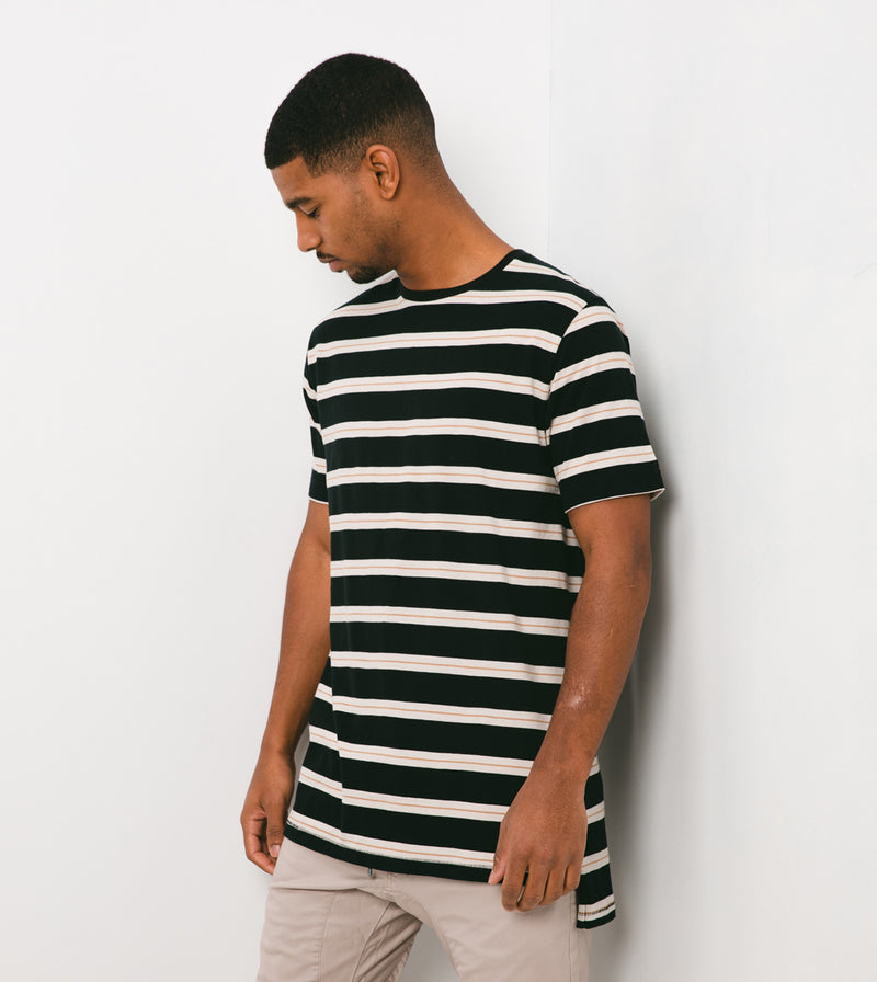 Stripe Flintlock Tee Black/Shell