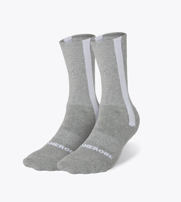 Split High Sock Silver Marle/Black (2 Pack)