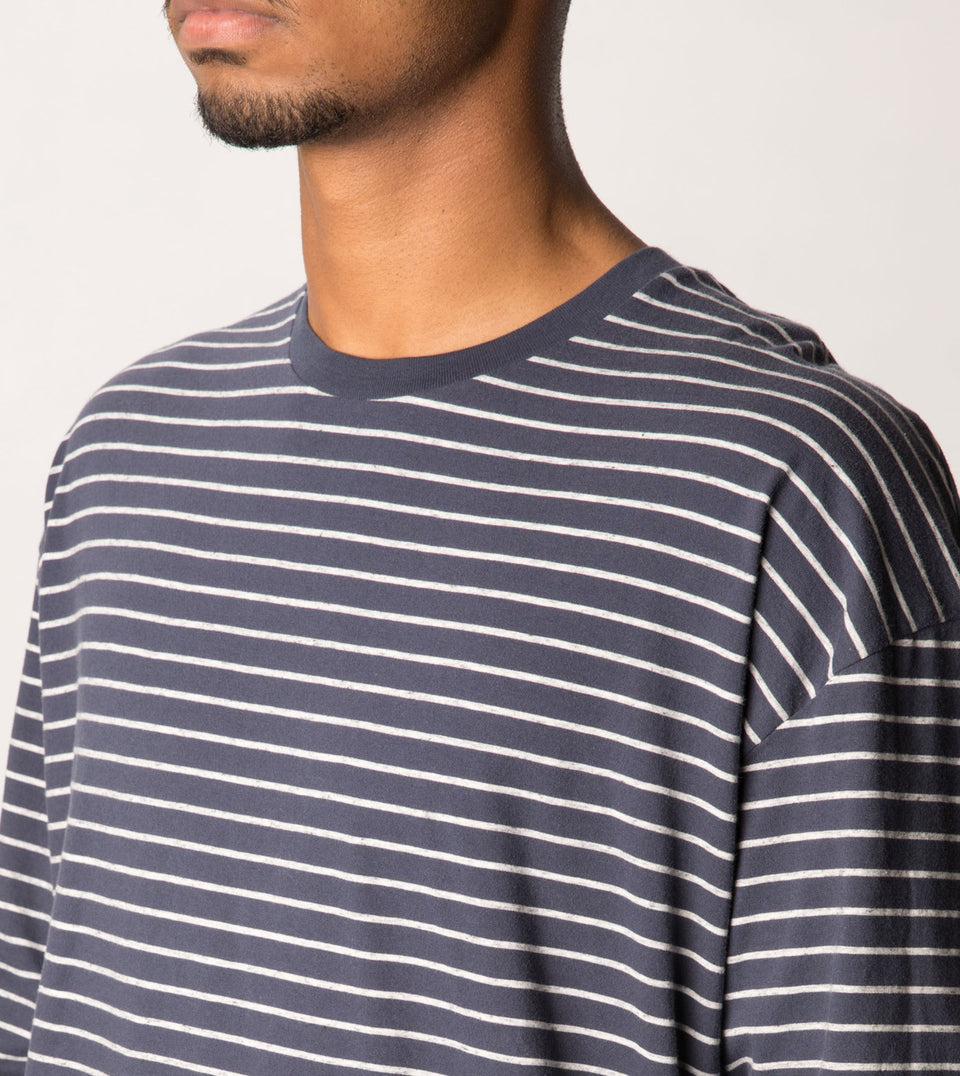 Stripe Rugger LS Tee Duke Blue/Storm Marle - Sale