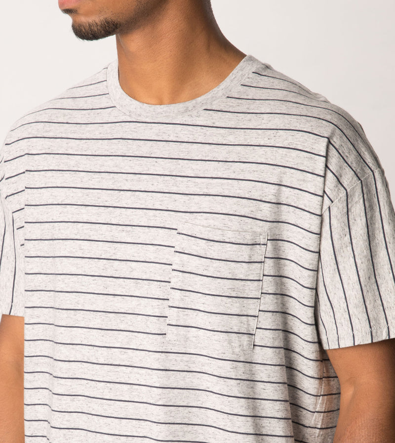 Stripe Rugger Tee Storm Marle/Duke Blue