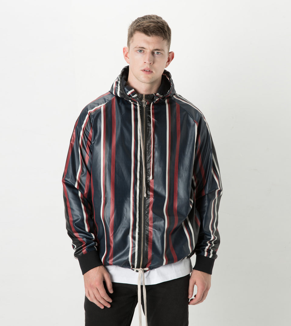 Stripe Storm Spray Jacket Ink/Dark Cherry - Sale