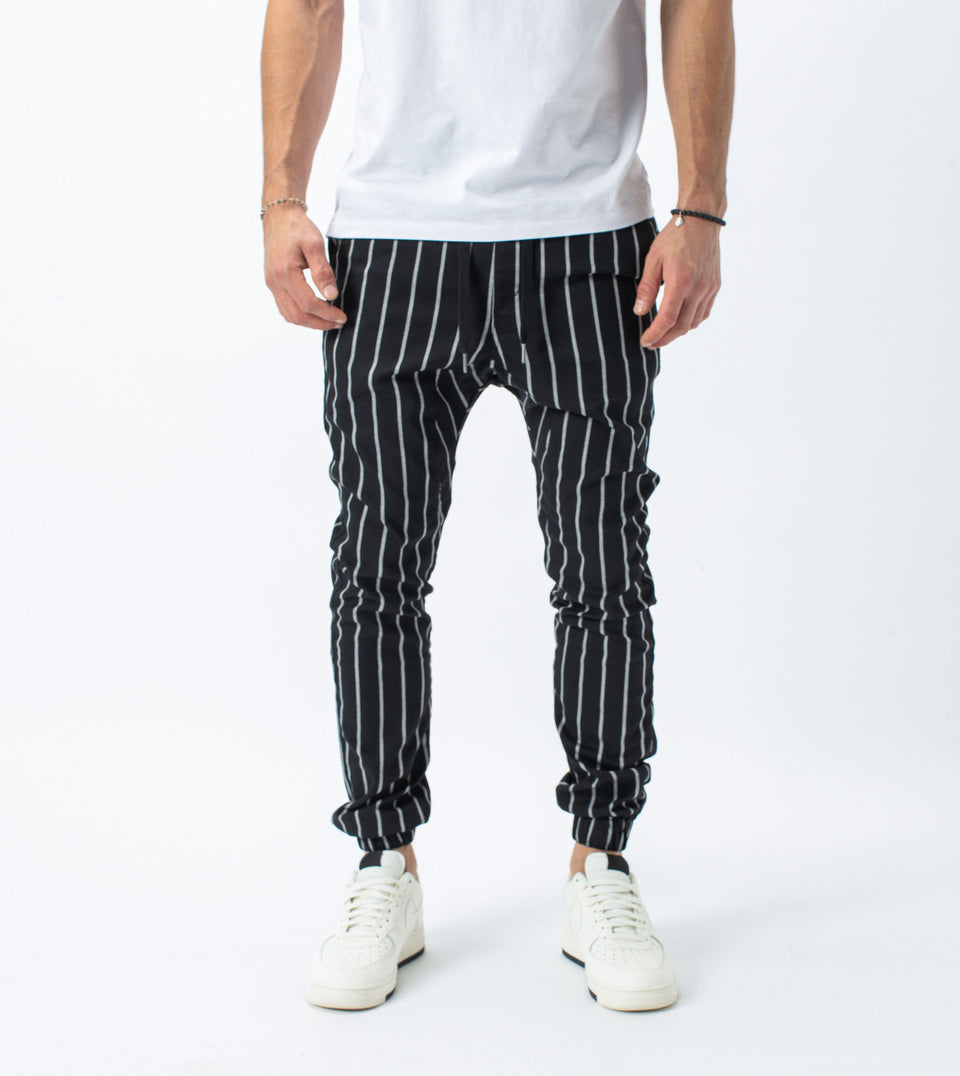 Stripe Sureshot Jogger Black/Milk