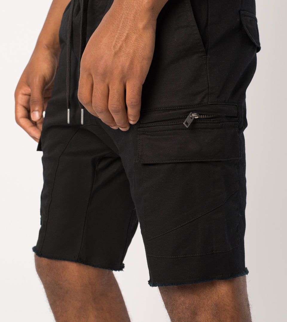 Sureshot Cargo Short Black
