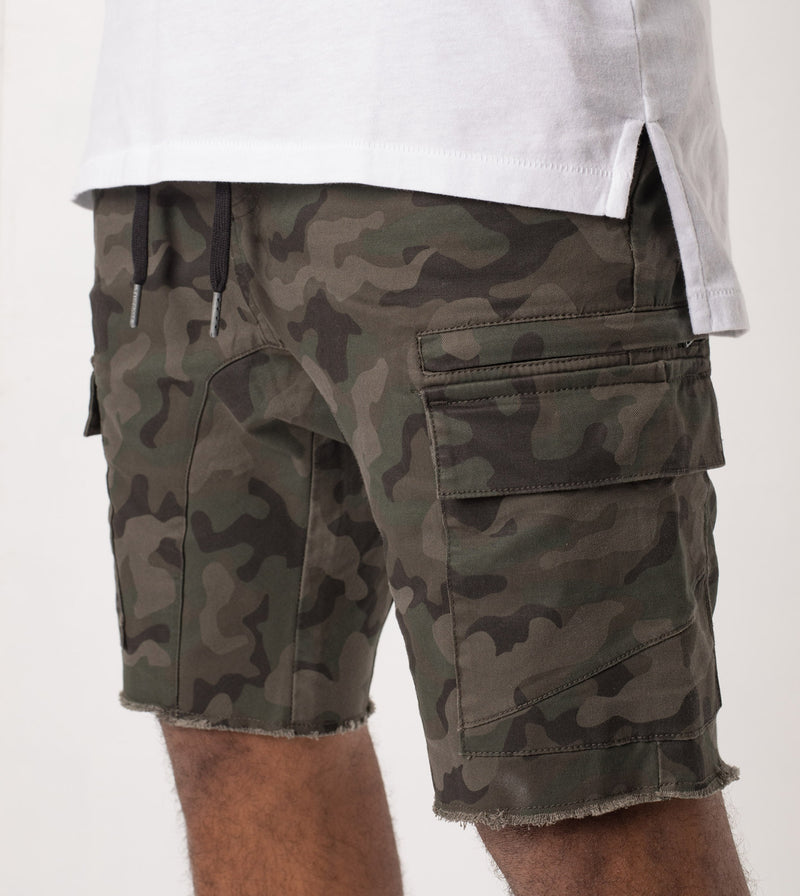 Sureshot Cargo Short Dark Camo - Sale