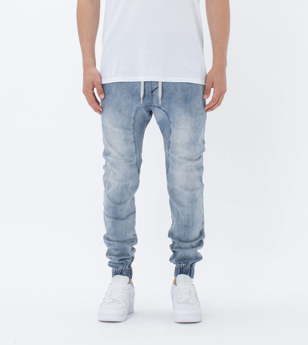 Sureshot Denim Jogger Mid Blue