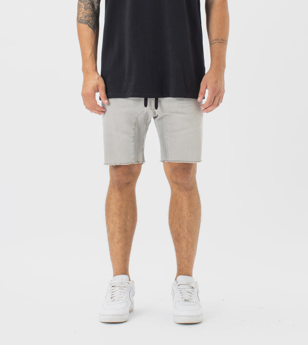 Sureshot Denim Short Whitewash Grey