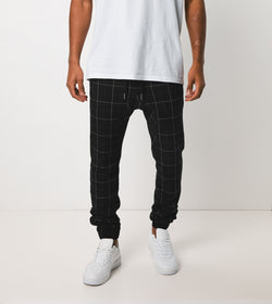 Sureshot Gridline Jogger Black/White - Sale