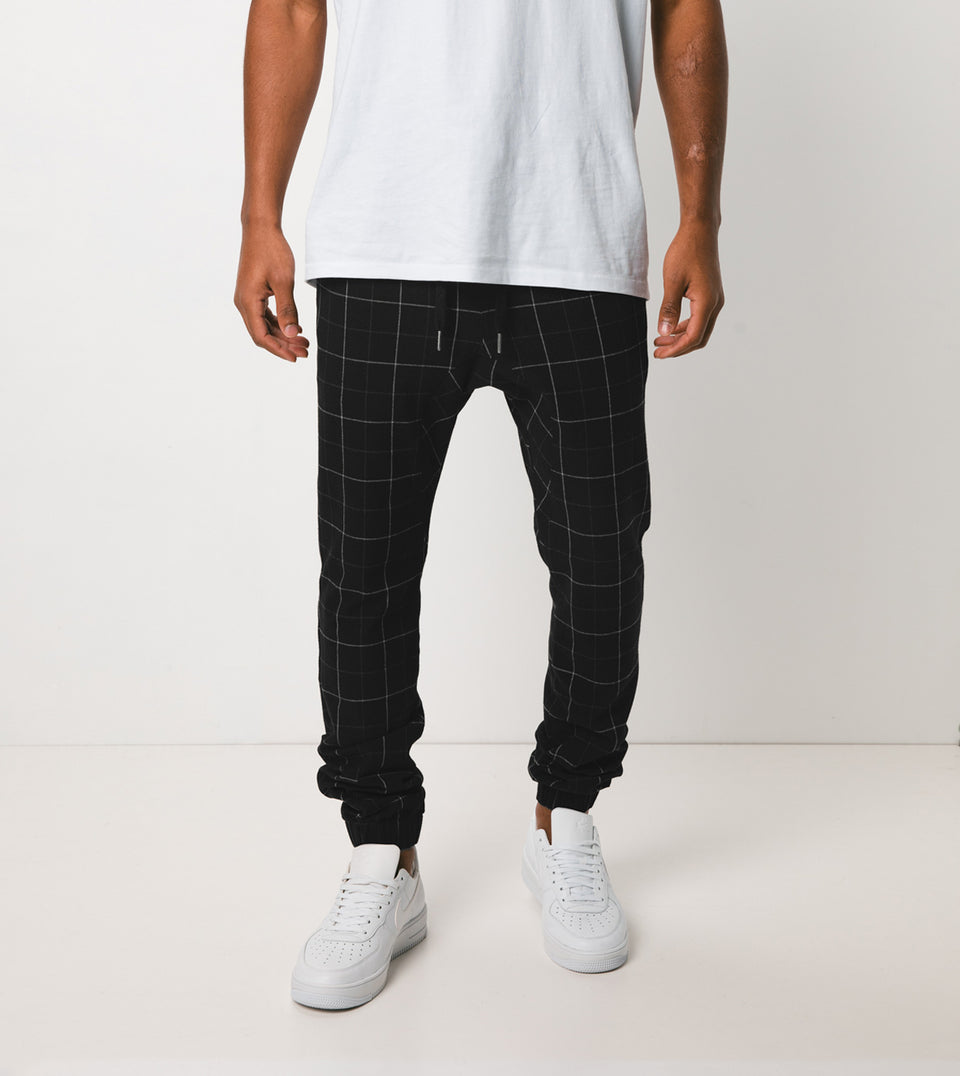 Sureshot Gridline Jogger Black/White