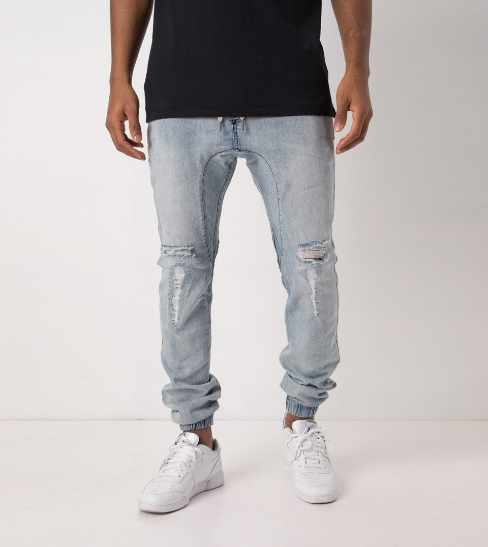 Sureshot Jogger Mid Blue Rip - Sale