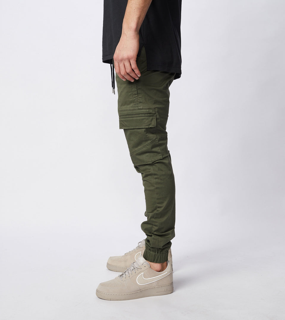 Sureshot Lightweight Cargo Jogger Military