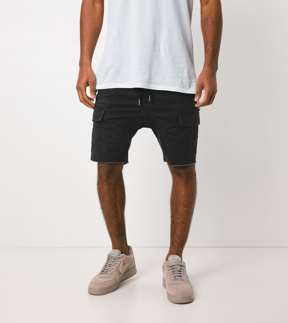 Sureshot Lightweight Cargo Short Vintage Black