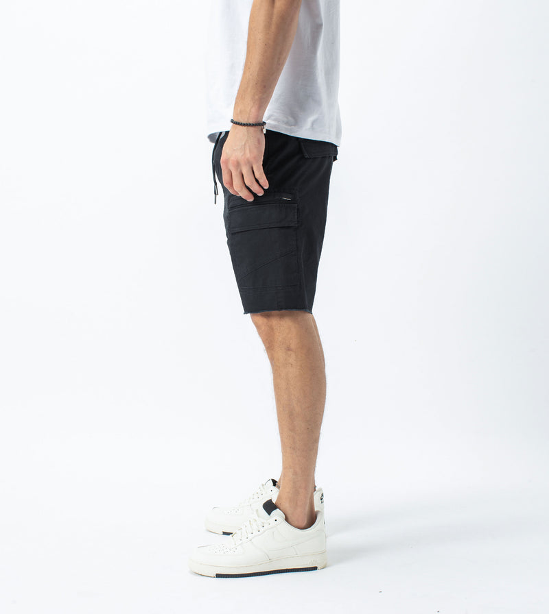 Sureshot Lightweight Cargo Short Washed Black