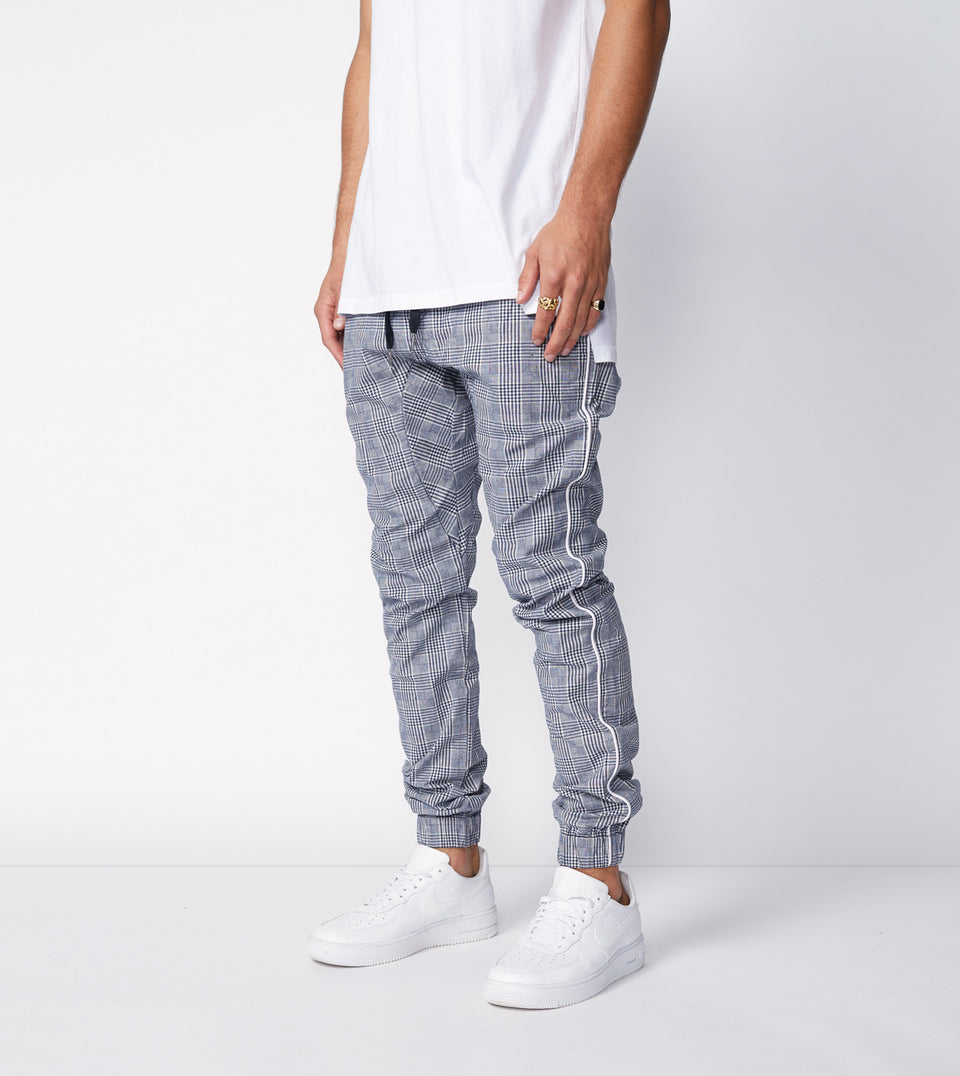 Sureshot Pipeline Check Jogger Grey/White