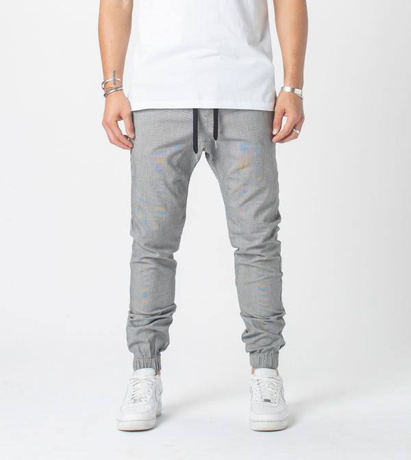 Plaid Sureshot Jogger Grey