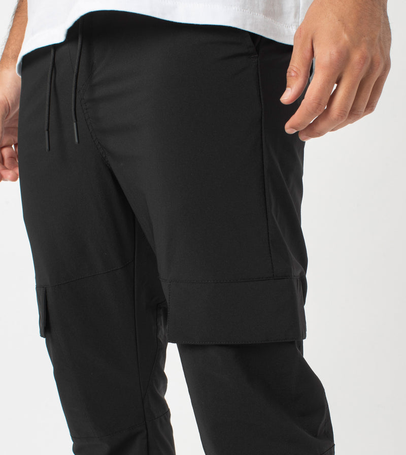 Sureshot Tech Cargo Jogger Black