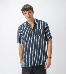 TD Stripe SS Shirt Ink/White