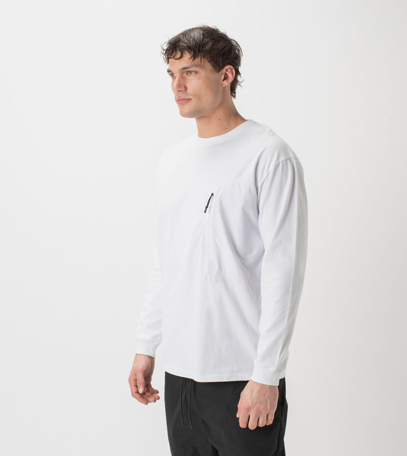 Tech Box LS Tee White