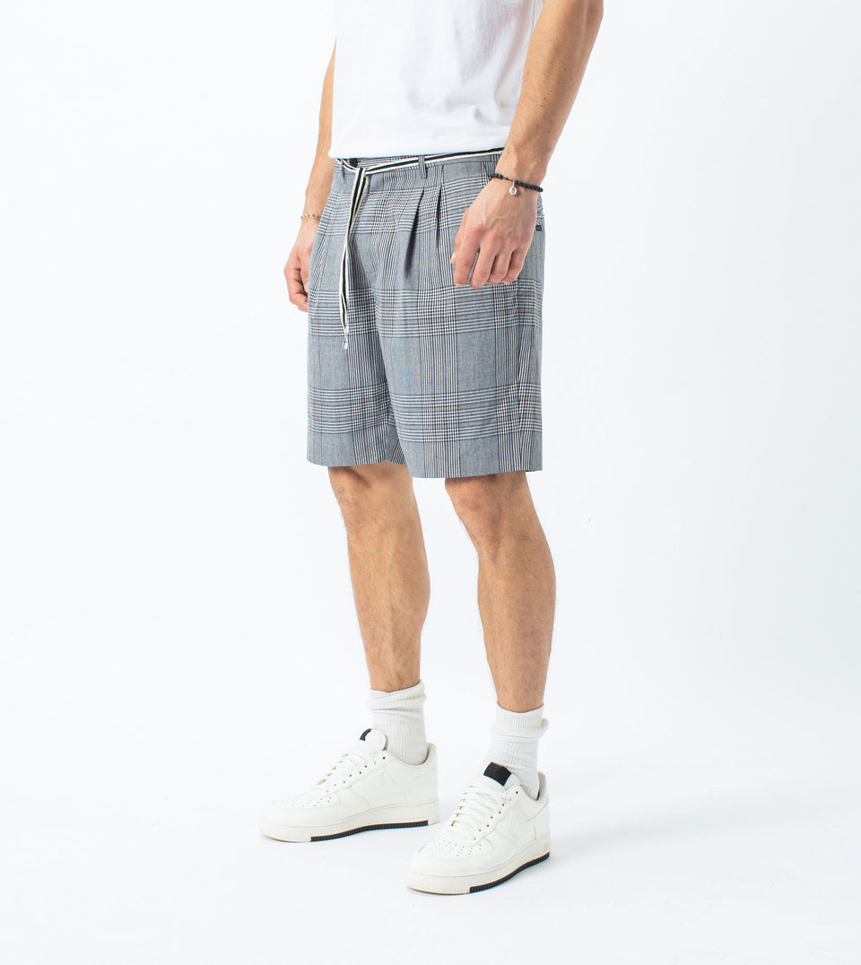 Tailo Plaid Short Grey