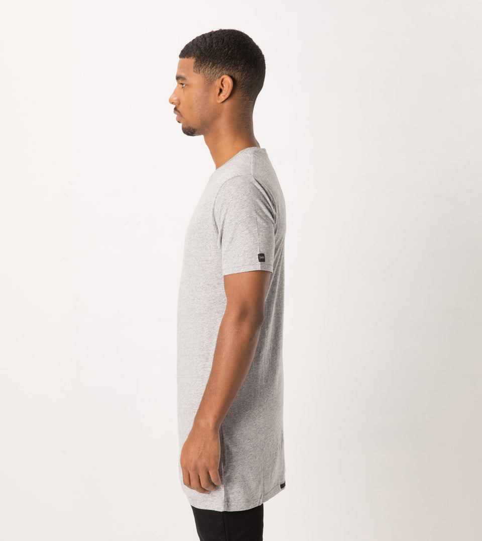 Tall Tee Grey Marle
