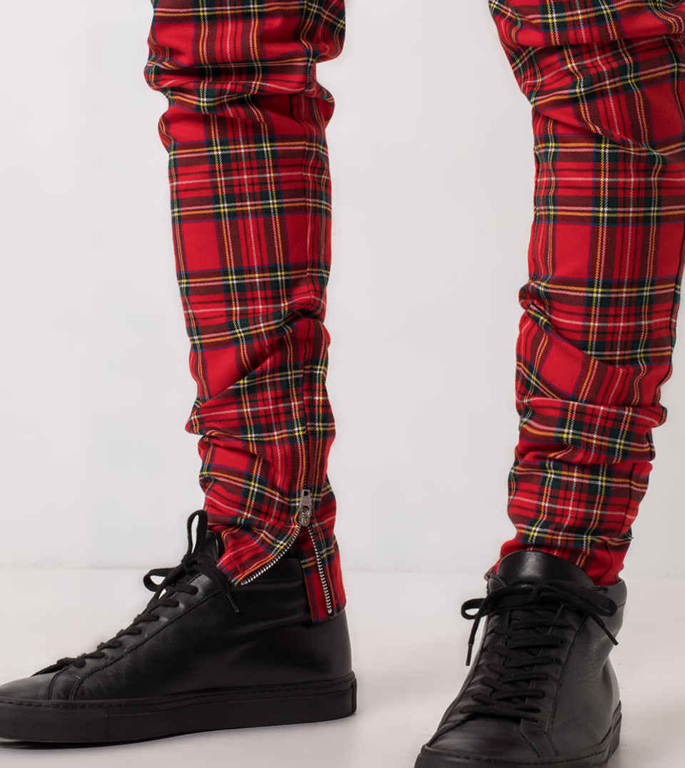 Tartan Unblockshot Chino Red