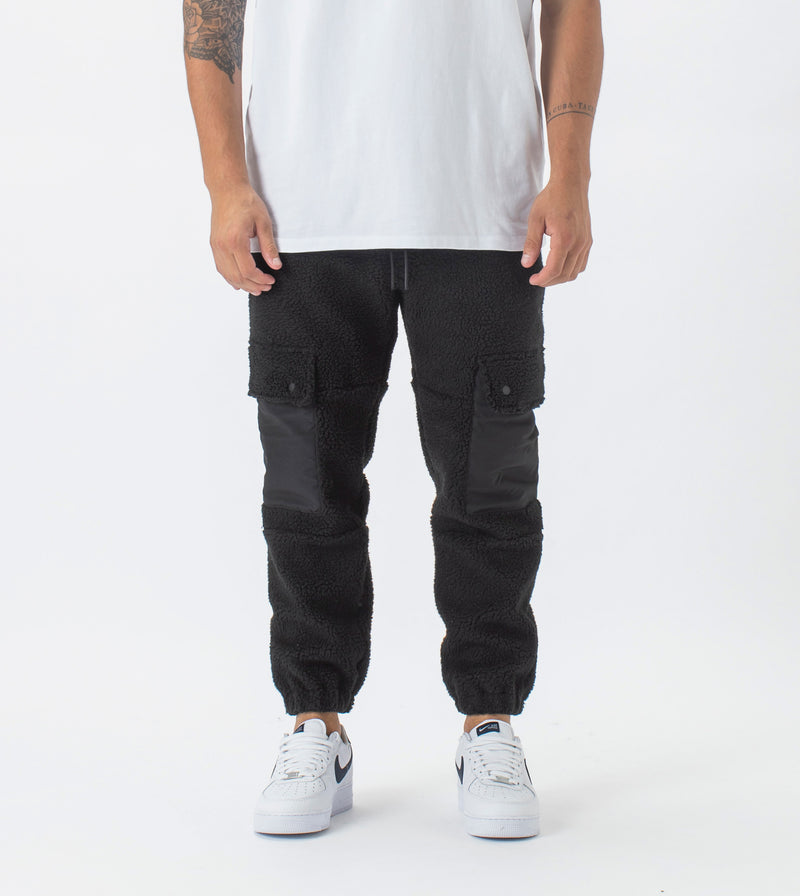 Teddy Jumpa Cargo Jogger Black