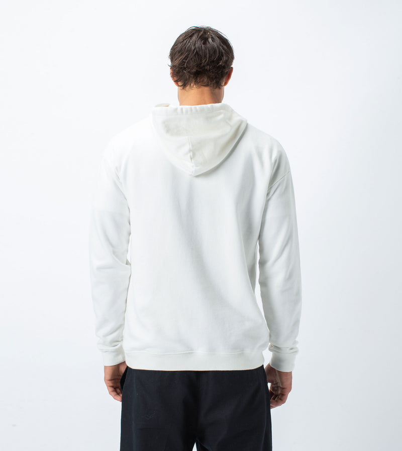 Three-Head Rugger Hood Sweat Milk - Sale