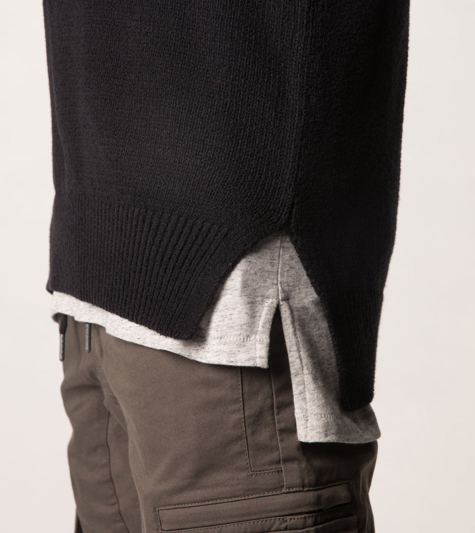 Towel Crew Knit Black