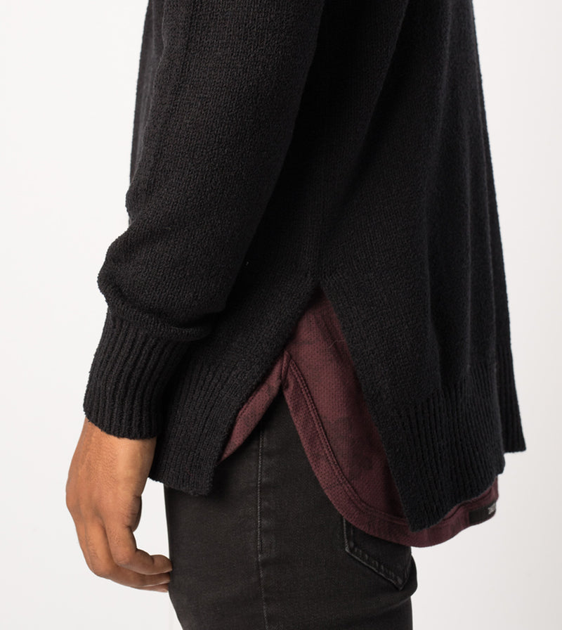 Towel Hood Knit Black - Sale