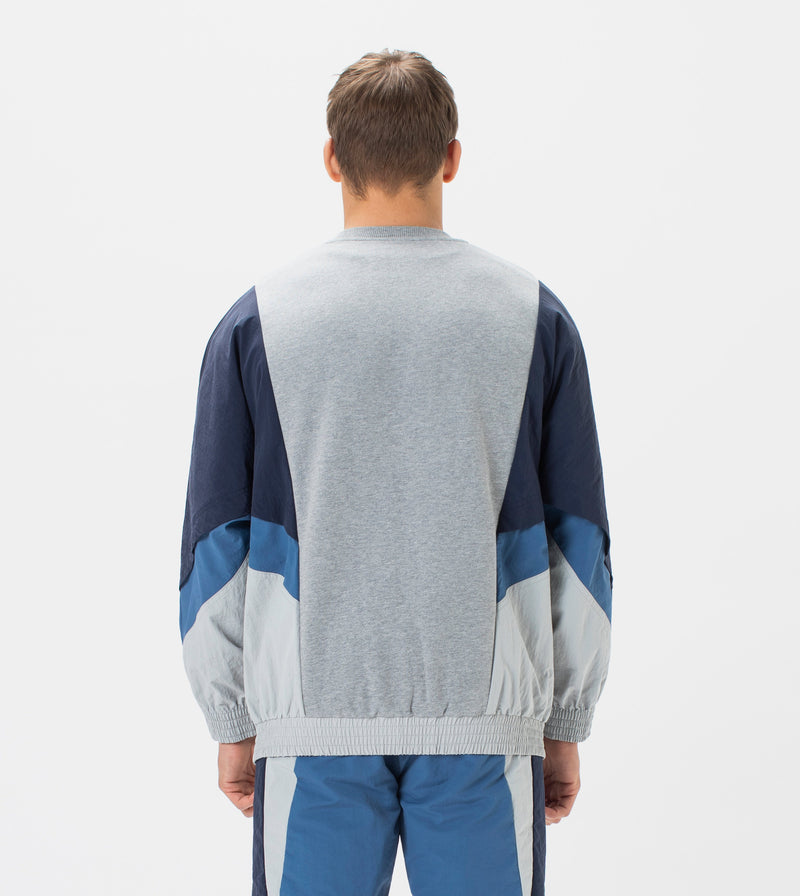 Panel Track Crew Sweat Royal/Indigo