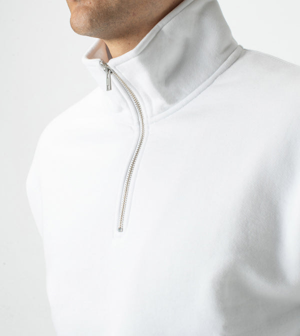 Track Zip Sweat White