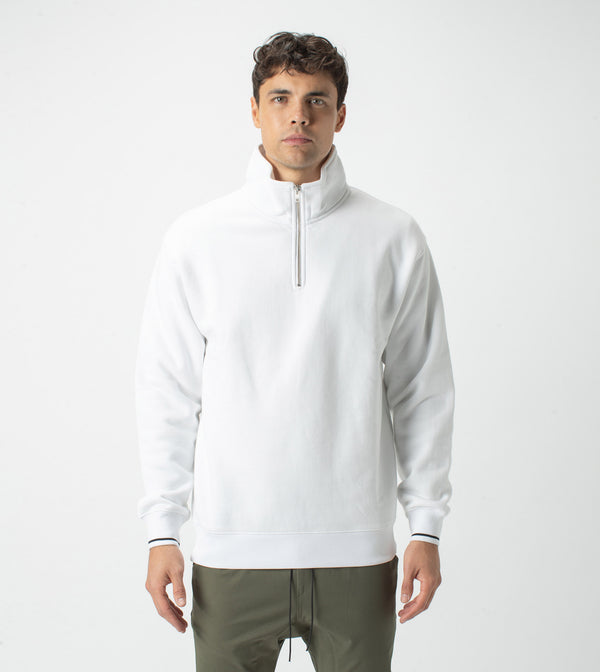 Track Zip Sweat White - Sale