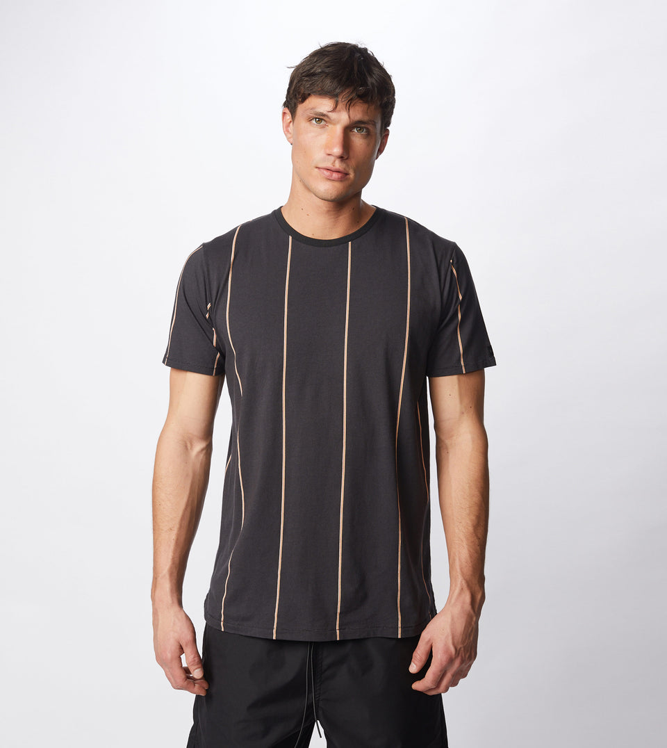 Tri-Stripe Flintlock Tee Black/Mango