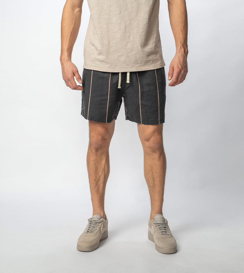 Tri-Stripe Zephyr Short Black/Mango