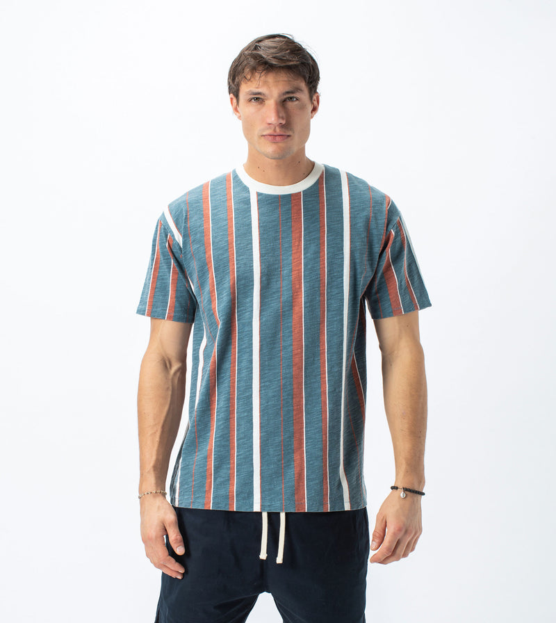 Triumvirate Box Tee Ocean/Clay - Sale