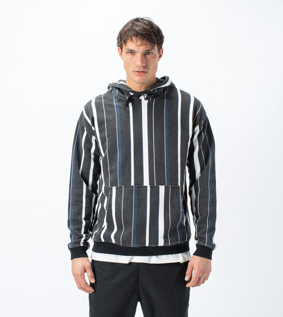 Triumvirate Rugger Hood Sweat Black/Milk