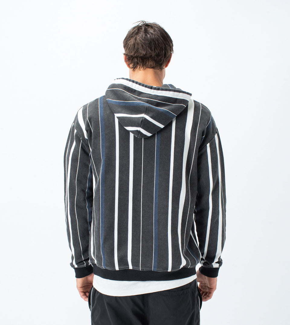 Triumvirate Rugger Hood Sweat Black/Milk - Sale