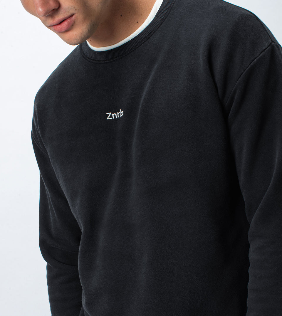 Typeface Rugger Crew Sweat Smokey Black - Sale